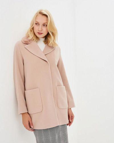 Розовое пальто осеннее Madeleine