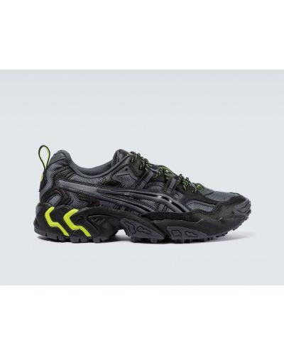 Кожаные черные кроссовки беговые для бега Asics