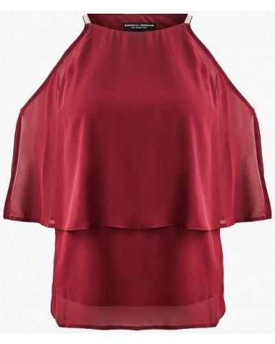 Блузка с открытыми плечами бордовый красная Dorothy Perkins