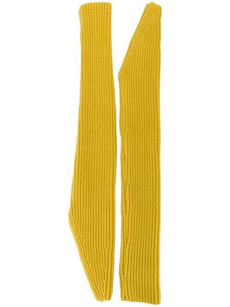 Кашемировые желтые перчатки длинные Calvin Klein 205w39nyc