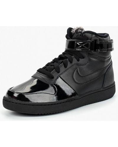 Высокие кеды лаковые Nike