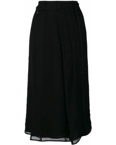 Плиссированная юбка с запахом асимметричная Carven