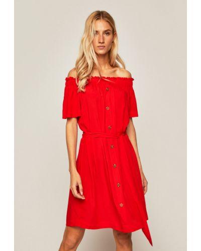 Платье с открытыми плечами из вискозы Medicine