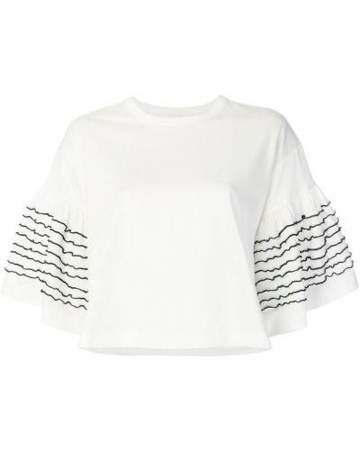 Белая свободная футболка See By Chloé
