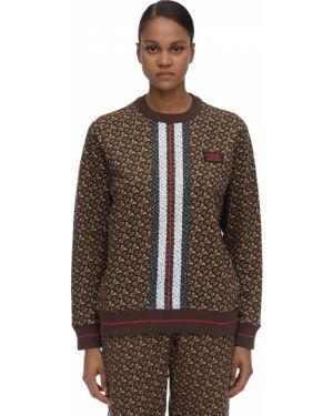 Sweter ażurowy z kołnierzem Burberry