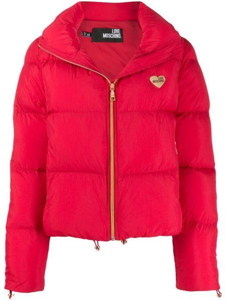 Длинная куртка укороченная с карманами Love Moschino