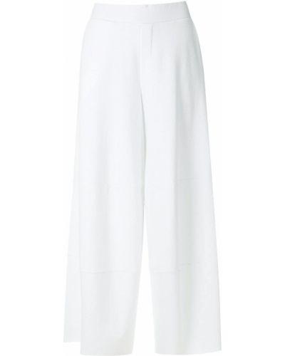 Хлопковые белые брюки с поясом Osklen