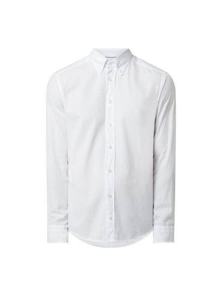 Biała koszula oxford bawełniana z długimi rękawami Eton