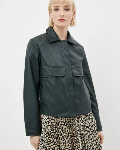 Зеленая кожаная куртка Ostin