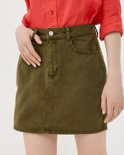 Зеленая джинсовая юбка Springfield