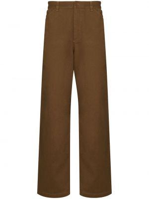 Хлопковые брюки - коричневые Wood Wood