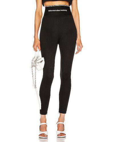 Czarne legginsy z wiskozy miejskie Alexander Wang
