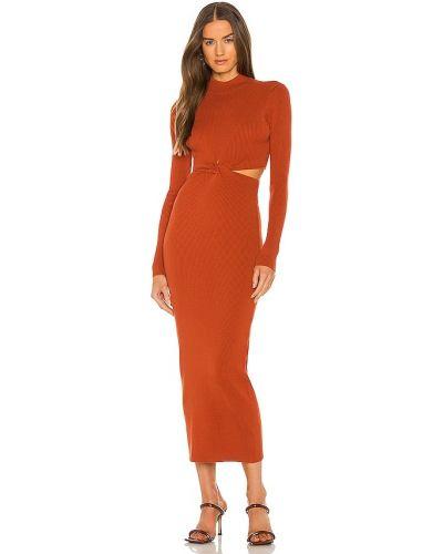 Платье из вискозы - оранжевое Ronny Kobo