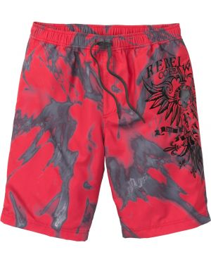 Пляжные шорты на резинке с рисунком Bonprix