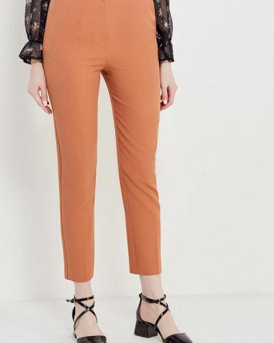 Коричневые зауженные брюки Topshop