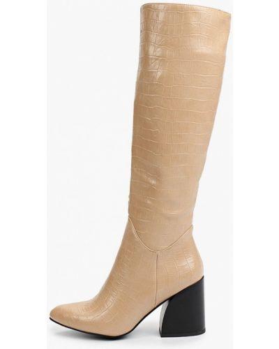 Бежевые кожаные сапоги Diora.rim