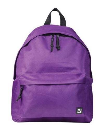 Фиолетовый школьный ранец из плотной ткани Brauberg