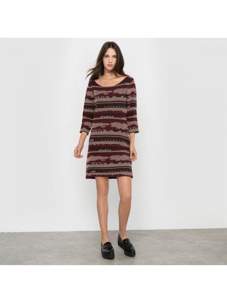 Платье мини с вырезом шерстяное Vila