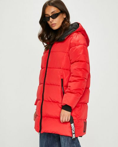 Утепленная куртка с капюшоном прямая Answear