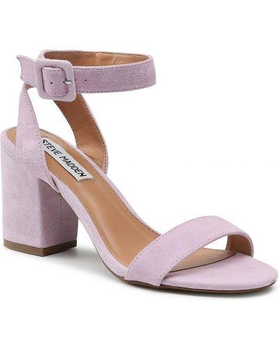 Sandały skórzane - fioletowe Steve Madden