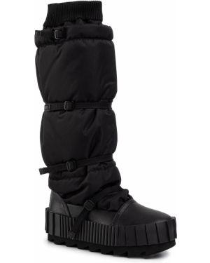 Buty w połowie kolana czarne United Nude
