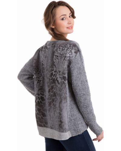 Серый пуловер свободного кроя Marc Cain