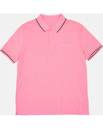 Футбольный поло - розовый Lotto