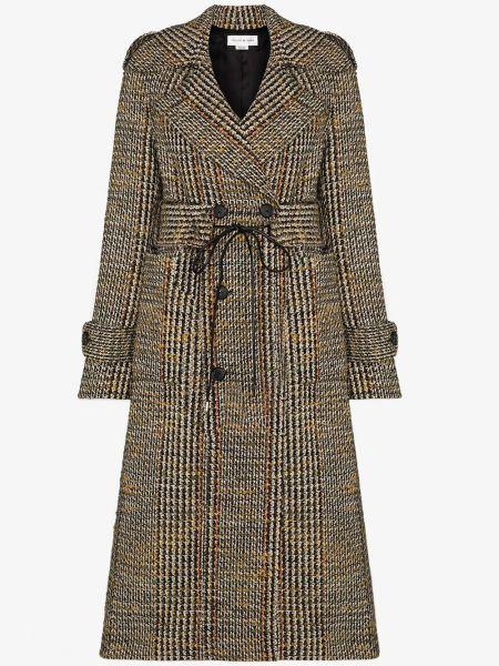 Черное шерстяное пальто Victoria Beckham