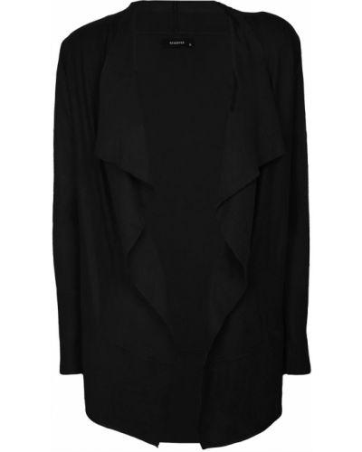 Czarny sweter z wiskozy z długimi rękawami Reserved
