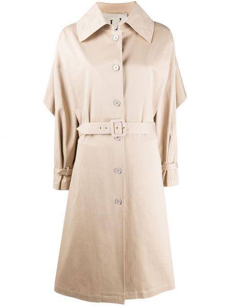 Хлопковый длинное пальто с карманами на пуговицах L'autre Chose