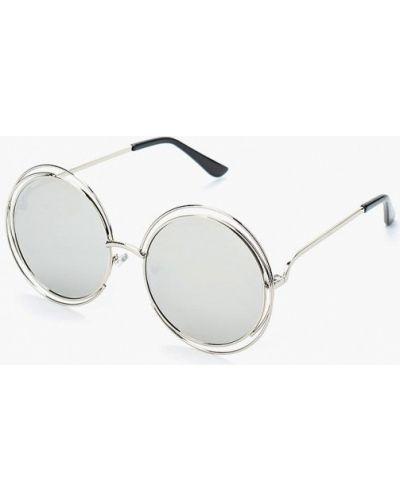 Солнцезащитные очки серебряного цвета Vitacci