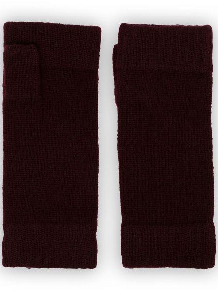 Czarne z kaszmiru rękawiczki N.peal