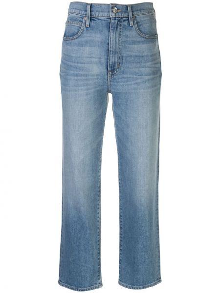 Синие с завышенной талией укороченные джинсы с поясом на молнии Slvrlake