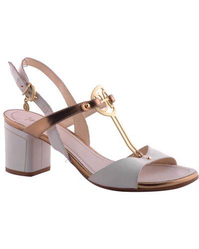 Белые босоножки на каблуке Fabi