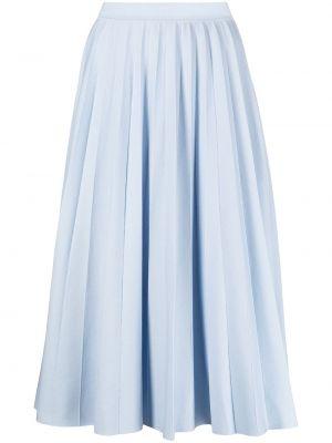 Niebieska spódnica midi z wysokim stanem wełniana Gabriela Hearst