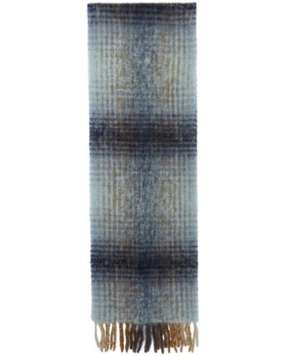 Wełniany biały szalik z łatami Séfr