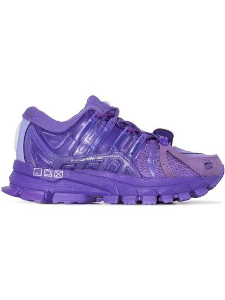 Фиолетовый кружевной кожаный топ Li-ning