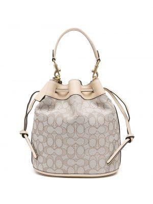 Кожаная сумка - коричневая Coach