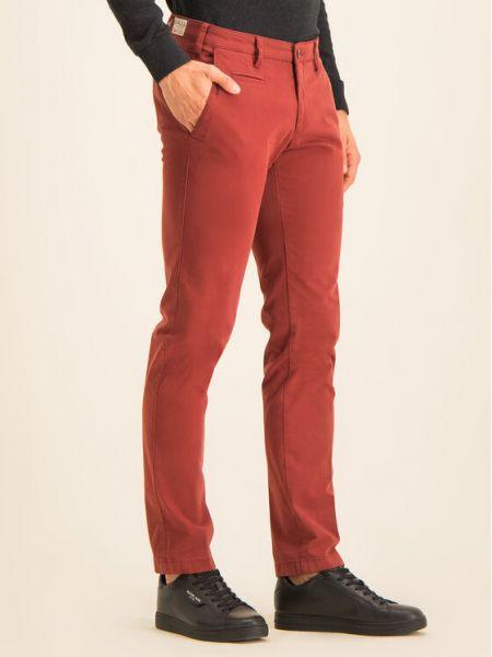 Czerwone spodnie materiałowe Digel
