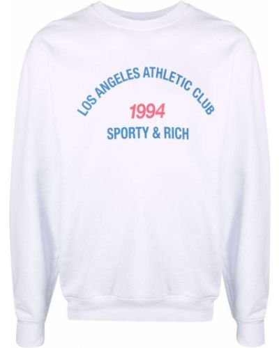 Biała bluza z długimi rękawami Sporty And Rich