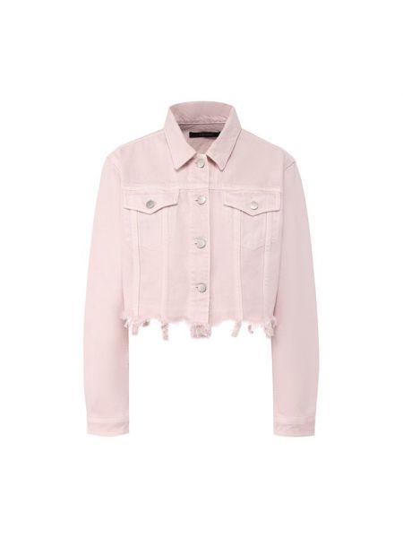 Джинсовая куртка с бахромой розовая J Brand