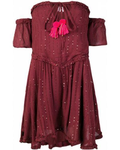 С заниженной талией платье мини с вырезом с кисточками Sundress