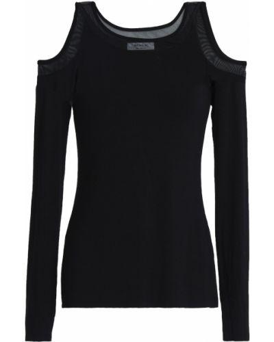 Czarna t-shirt z siateczką Bailey 44