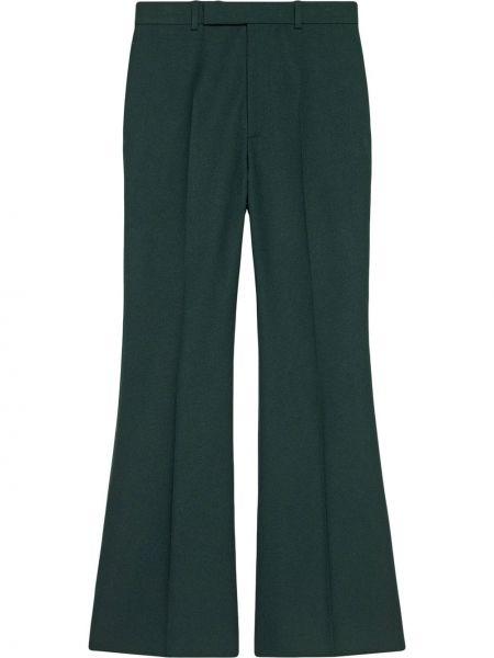 Zielony rozbłysnął przycięte spodnie z paskiem wysoki wzrost Gucci