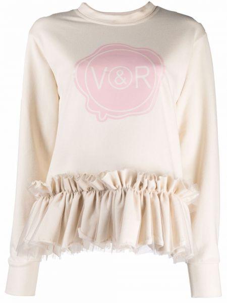 Biała bluza z długimi rękawami Viktor & Rolf