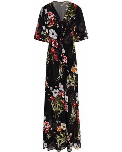 Шифоновое платье макси - черное Olivia Von Halle