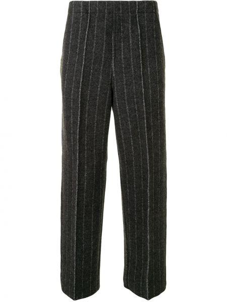 Шерстяные серые вязаные брюки Coohem