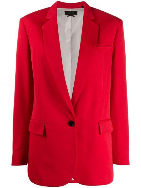 Однобортный красный пиджак с карманами Isabel Marant