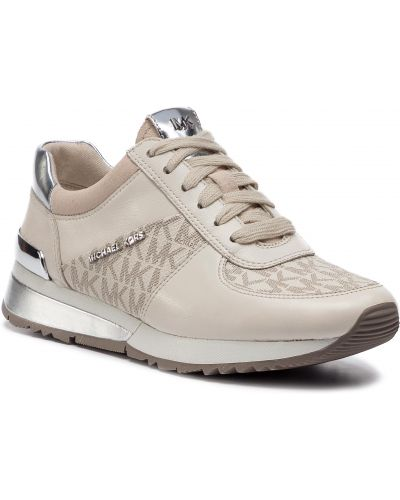 Beżowe sneakersy kopertowe Michael Michael Kors