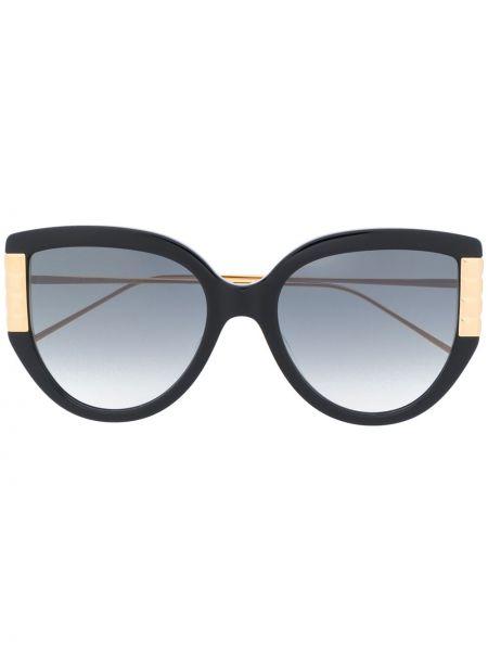 Прямые муслиновые черные солнцезащитные очки Boucheron Eyewear